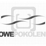 Logo firmy nr 089 - czarno-białe - Nowe pokolenie