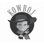 Logo firmy 135 - czarno-białe - Kowboj